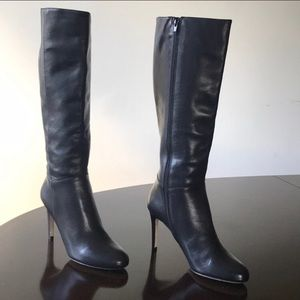 Saks fifth avenue leather boots size 11 black NWT